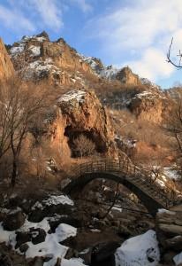 Bridge over a creek at Geghard Monastery.