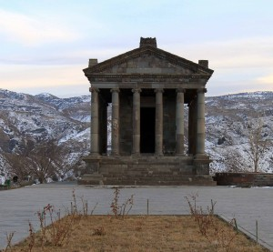 The Temple of Mihr, at the ancient settlement of Garni.