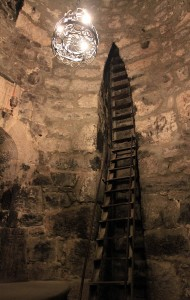 The ladder entrance to the pit where St. Gregory the Illuminator was imprisoned.