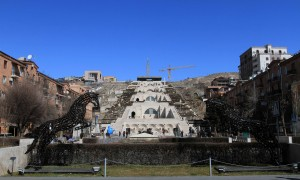 Yerevan Cascade and sculpture park.