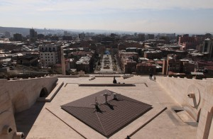 View of Yerevan from the top of the Cascade.