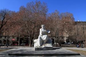 Sculpture of Martiros Saryan (an Armenian painter).