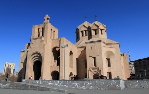 St. Gregory the Illuminator Cathedral, built to celebrate the 1700th anniversary of the proclamation of Christianity as a state religion in Armenia.