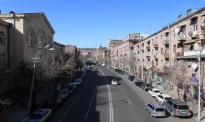 Charents Street in Yerevan.