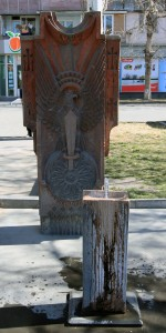 Spring-fed drinking fountain in Yerevan.