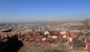 Yerevan, seen from Erebuni Fortress.