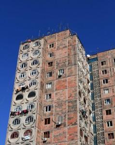 Apartment building in Yerevan.