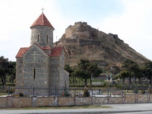 Church with Gori Fortress in the background.