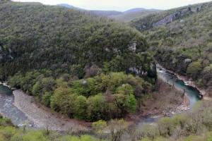 Bend in the Tskhastsitela River, near Motsameta Monastery.