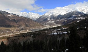 The valley and mountains in Upper Svaneti, seen on my hike up to Hatsvali Ski Resort.
