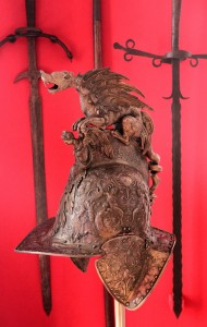 Historic military helmet from Ukraine's past.