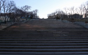 Climbing up the Potemkin Stairs.