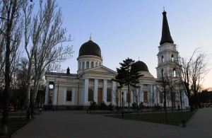 The Transfiguration Cathedral in Odessa.