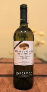Rkatsiteli white wine, produced from the Crimea.