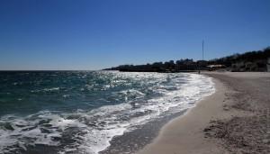 The Black Sea seen from Lanzheron Beach.