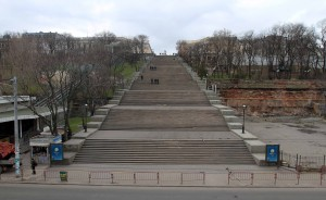 View of the Potemkin Stairs from across the street.