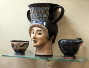Ancient drinking cups.
