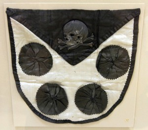"""Based on the prominent Totenkopf (German for """"skull and crossbones"""" - a symbol made infamous by the Gestapo) this most likely belonged to the Prussian and Brunswick Armed forces (dating from the 19th-century AD)."""