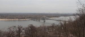 The Dnieper River, running through Kiev.