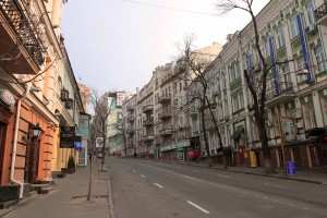 Mykhailivs'ka Street, on my way to Maidan Nezalezhnosti.
