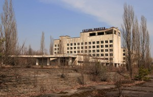 The hotel at Pripyat.