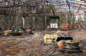 Bumper cars at the Pripyat amusement park.