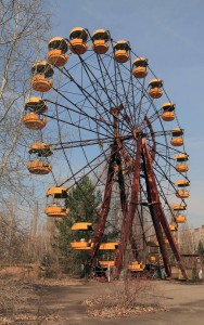 Ferris wheel in Pripyat.