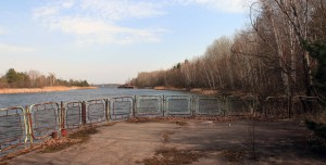 Pripyat River, seen from the town's riverside park.