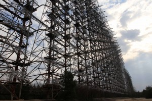 The gigantic radar array at Chernobyl.