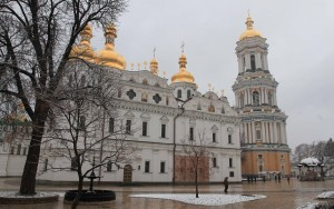Dormition Cathedral and Great Lavra Bell Tower.