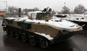 BMD-2 seized by Ukrainian servicemen in the Luhansk Region in August 2014 - troops using these vehicles in the region were found with documents identifying them as personnel of military base  No. 74268, which is located in Pskov, Russia.