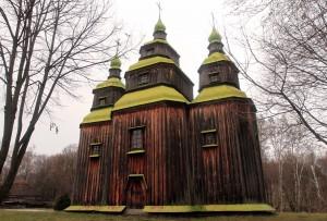 Zarubyntsi village church (originally built in 1742 AD).