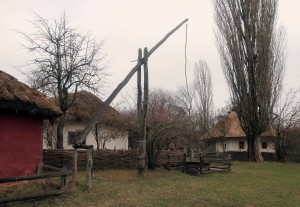 Traditional homes from the Poltava Region, reassembled here at Pirogov.