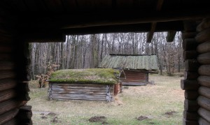 Log cabins from the Polissya Region.