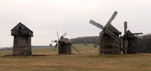 Windmills from the Polissya Region.