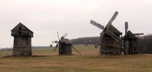 Windmills from the Polissya Region.