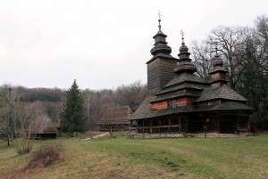 Church from Kanora village (built in 1792 AD), in the Carpathian Region.