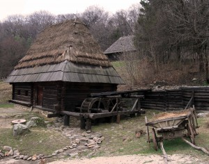 Mill from Pylypets village, in the Carpathian Region.