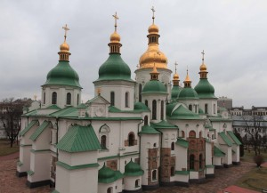 St. Sophia's Cathedral, seen from the bell tower.