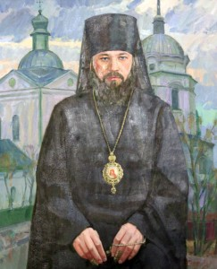 Painting of Volodymyr the Metropolitan, who was the head of the Ukrainian Orthodox Church until his death in 2014 AD.