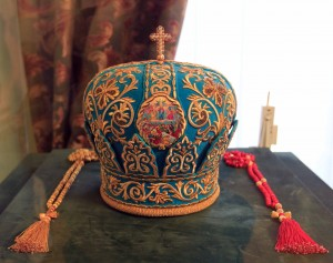 Blue miter worn by Volodymyr the Metropolitan.