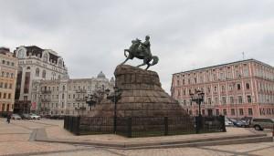Statue of Bohdan Khmelnytsky.