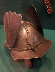 Polish Papenhaimer helmet with wings (from the 17th-century AD).