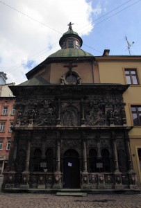 Facade to the Chapel of the Boim family.