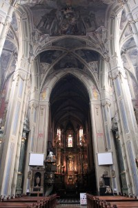 Inside the Latin Cathedral.