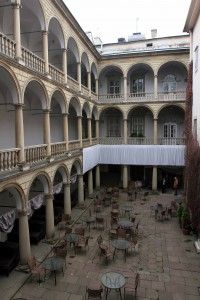 The Italian Courtyard within the Royal Townhouse building, which is now the Historical Museum of Lviv.