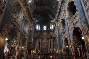 Inside the Jesuit Church.