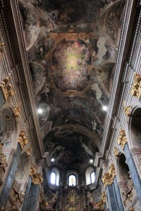 The ceiling in the Jesuit Church.