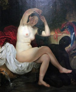 """Virsavia"" (after the painting by Karl Briullov) believed to be by Taras Shevchenko."