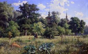 """Village Cemetery"" by Mykhailo Tkachenko."